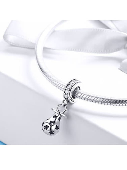 Maja 925 silver cute light bulb charm
