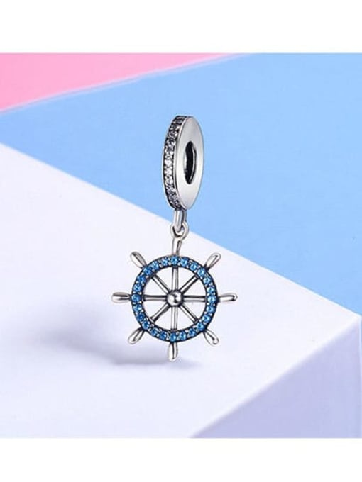 Maja 925 silver pirate ship rudder charm