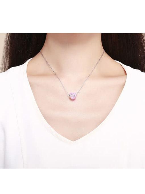 Maja 925 silver cute heart element accessories