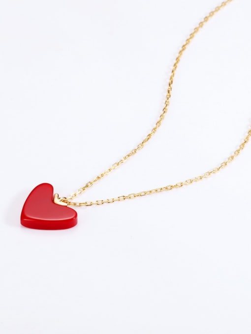 One Next 925 Sterling Silver With Gold Plated Classic Heart Locket Necklaces