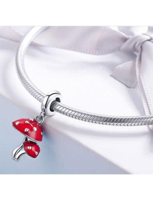 Maja 925 silver cute mushroom charm