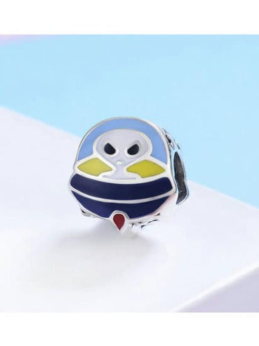 Maja 925 silver cute alien element accessories