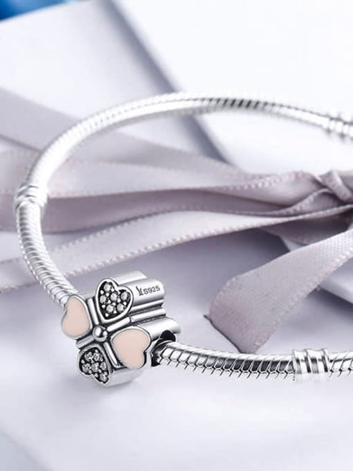 Maja 925 silver four-leaf clover element accessories