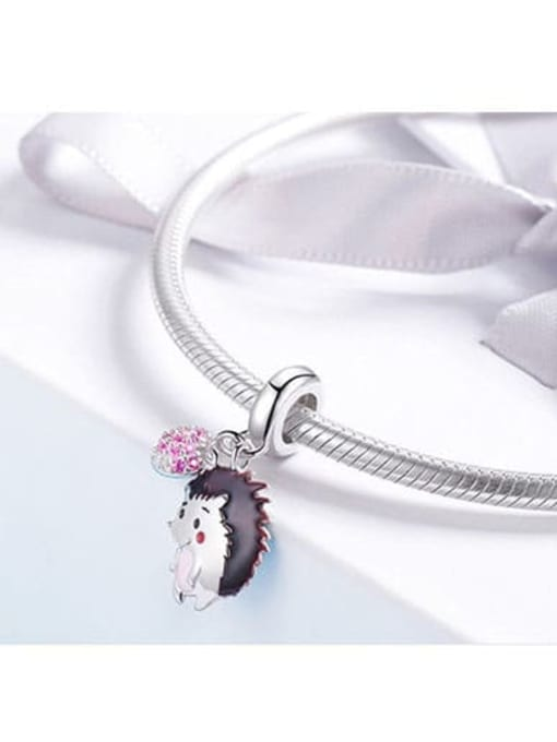 Maja 925 silver cute hedgehog charm