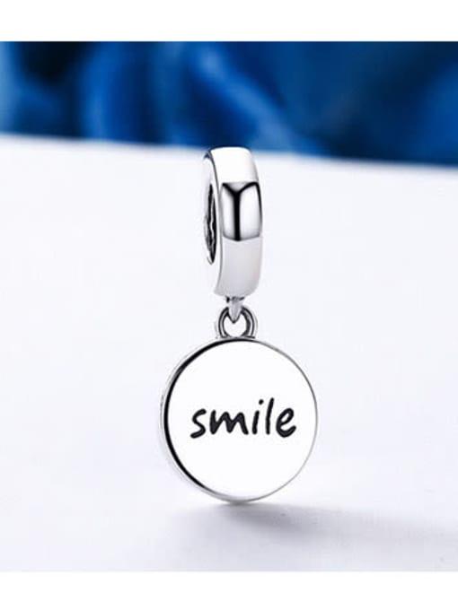 Maja 925 silver cute smiley face charm