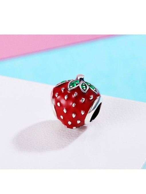 Maja 925 silver cute strawberry charm
