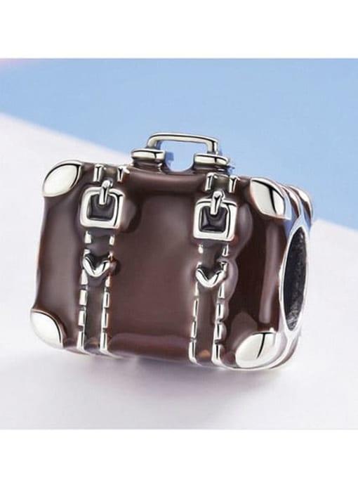 Maja 925 silver cute suitcase charm