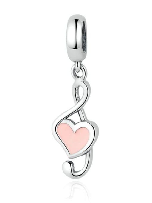 Maja 925 silver cute music symbol element accessories