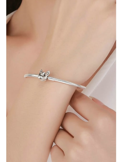 Maja 925 Silver Cute Dog Element Basic Bracelet