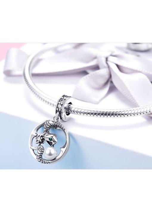 Maja 925 silver cute snake charm