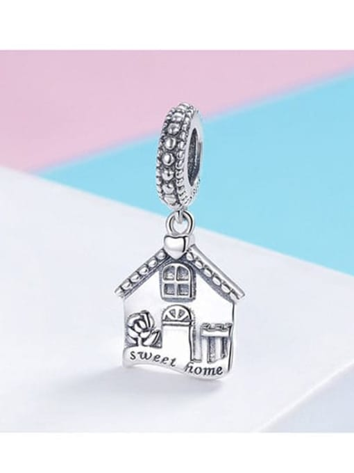 Maja 925 silver cute house element accessories