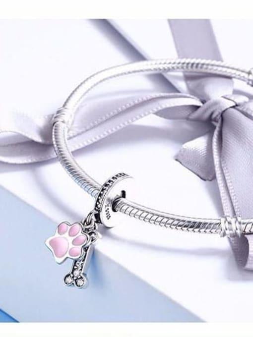 Maja 925 silver cute dog claw bone charm