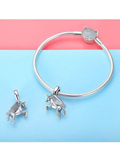 Maja 925 silver cute unicorn element accessories