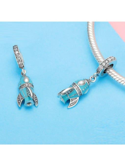 Maja 925 silver cute little rocket charm