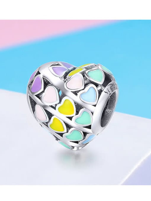 Maja 925 Silver Rainbow Heart charm