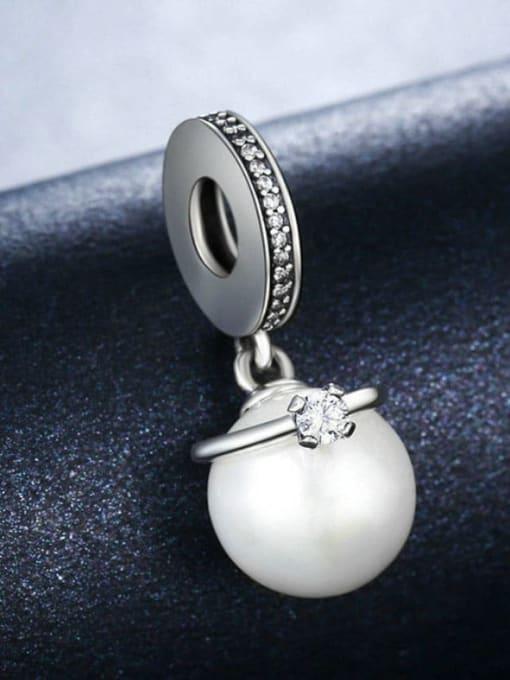 Maja 925 silver faux pearl charm