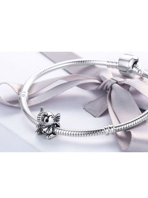 Maja 925 silver cute elephant charm