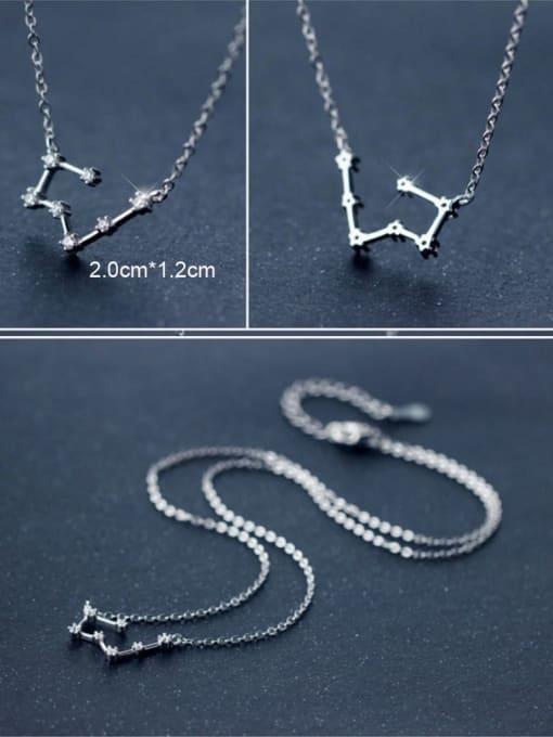 One Next 925 Sterling Silver With Cubic Zirconia 12 constellations Necklaces
