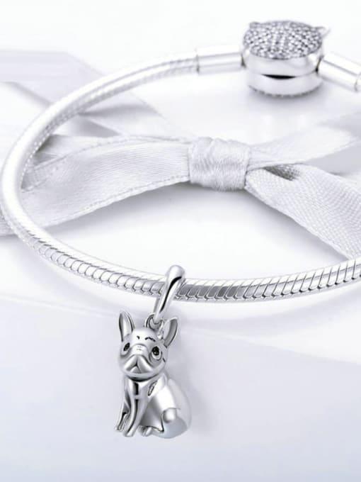 Maja 925 Silver Cute Bulldog charm