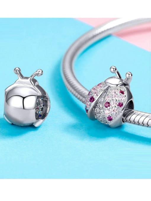 Maja 925 silver artificial zircon insect charm