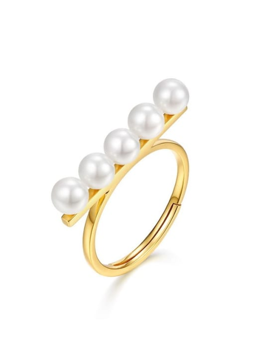 One Next 925 Silver  Pearl  Rings
