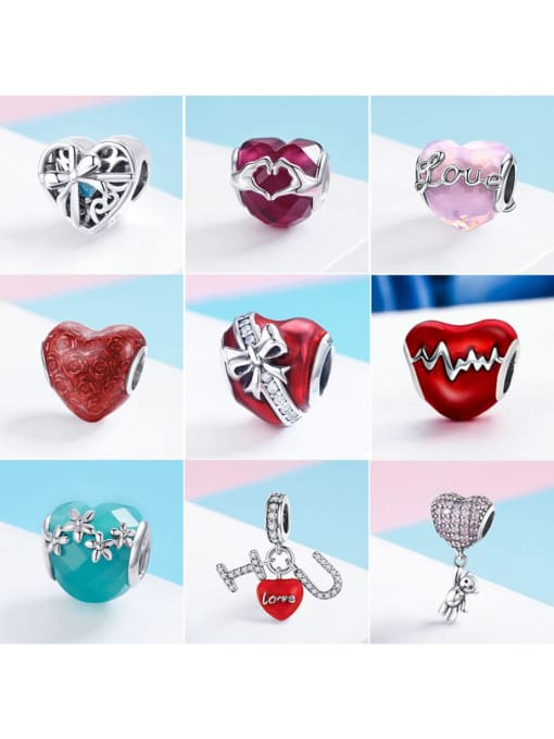 Maja 925 Sterling Silver With Antique Silver Plated Classic Heart Jewelry Findings