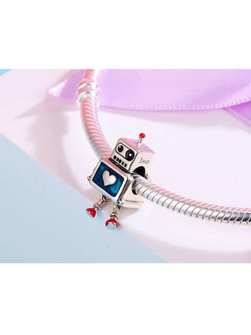Maja 925 silver cute robotic charm