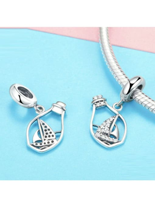 Maja 925 Silver Drift Bottle charm