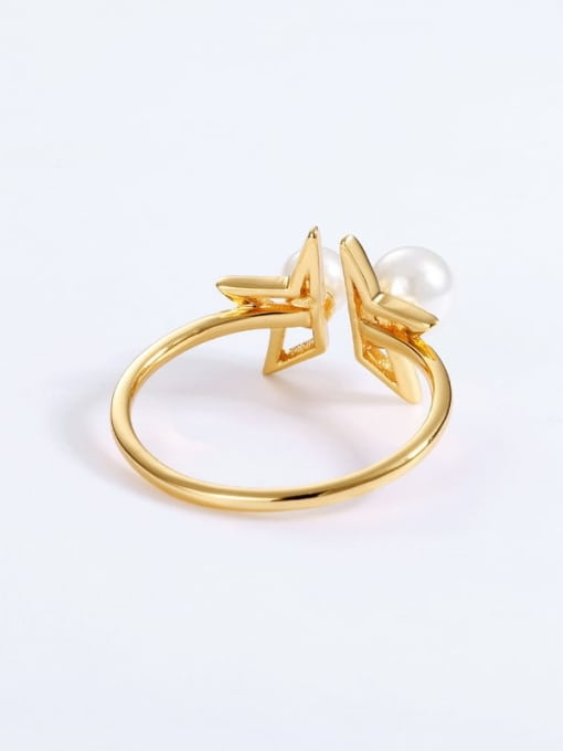One Next 925 Sterling Silver With Freshwater Pearl Sweet Star Ring