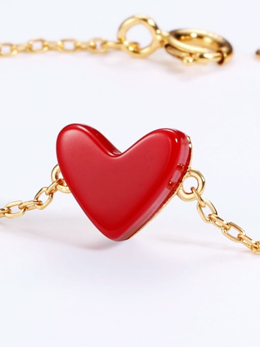 One Next 925 Sterling Silver With Gold Plated Classic Heart Bracelets