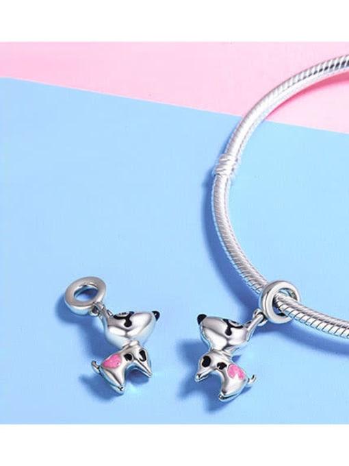 Maja 925 silver cute puppy charm