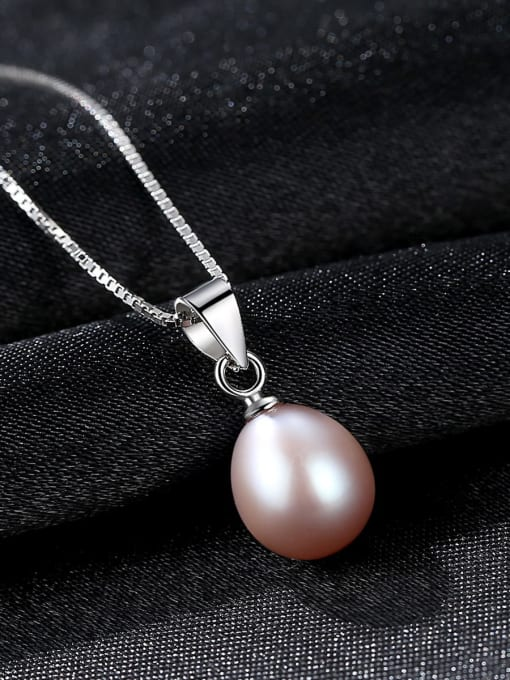 One Next 925 Sterling Silver With  Freshwater Pearl Oval Necklaces