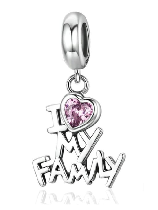 Maja 925 silver, I love my family letter charm