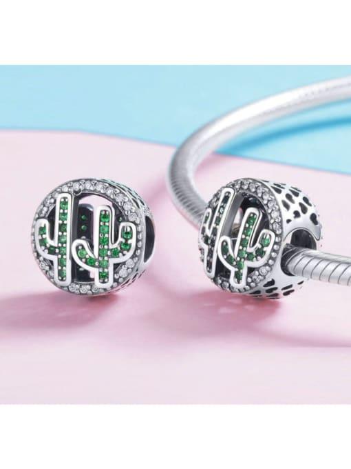 Maja 925 silver cute cactus charm