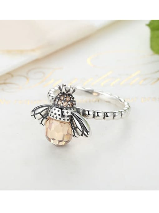 One Next 925 Silver Bee Element Ring