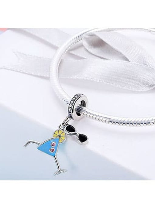 Maja 925 Silver Summer Cold Drink charm