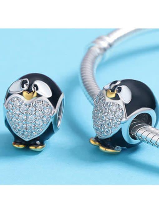 Maja 925 silver cute penguin charm