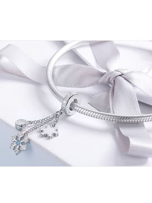 Maja 925 silver cute snowflake element accessories