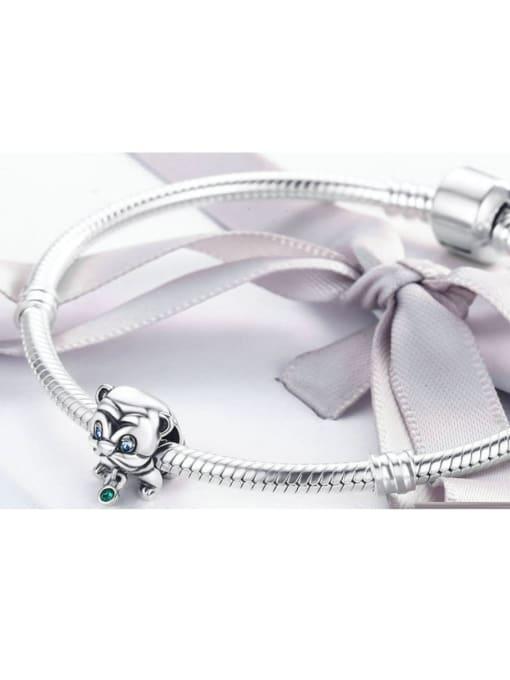 Maja 925 silver cute puppy element accessories