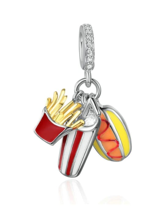 Maja 925 Silver Cola Fries Burger charm