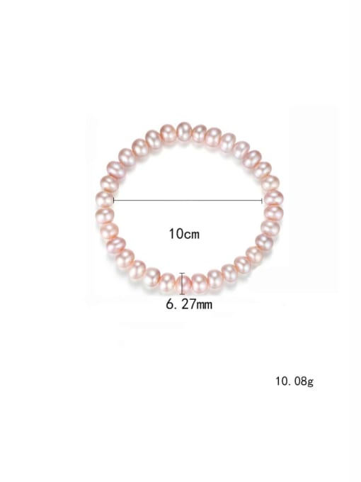 One Next 925 Sterling Silver With Platinum Plated Classic Oval Beaded Bracelets