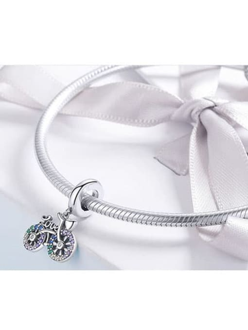 Maja 925 silver cute cycling charm