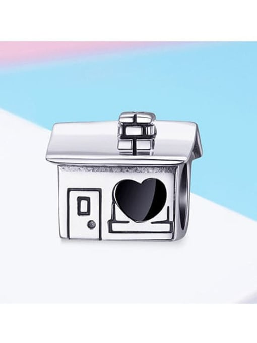 Maja 925 silver cute house charm