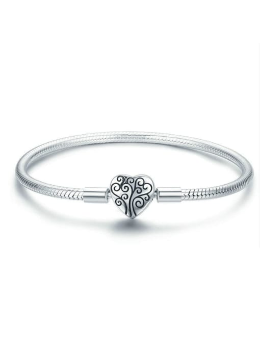 Maja 925 silver cute heart element basic bracelet