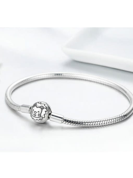 Maja 925 silver cute lion element basic bracelet