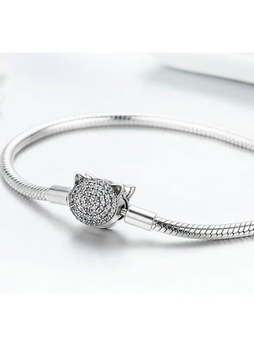 Maja 925 silver cute cat element basic bracelet