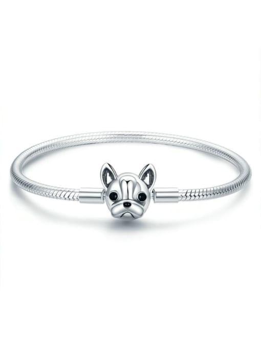 Maja 925 Silver Cute Dog Element Basic Bracelet