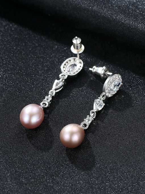 One Next 925 Sterling Silver With Freshwater Pearl Stud Earring