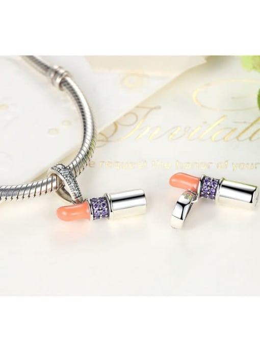 Maja 925 silver cute lipstick element accessories