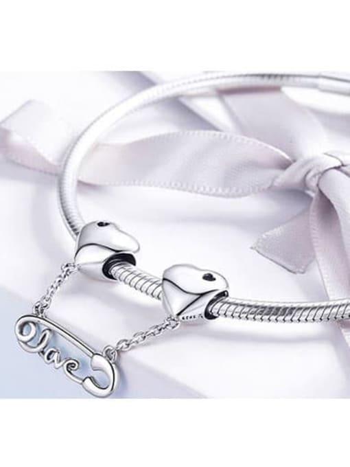 Maja 925 silver heart  needle charm